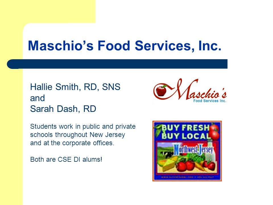 Maschio's Food Services, Inc.
