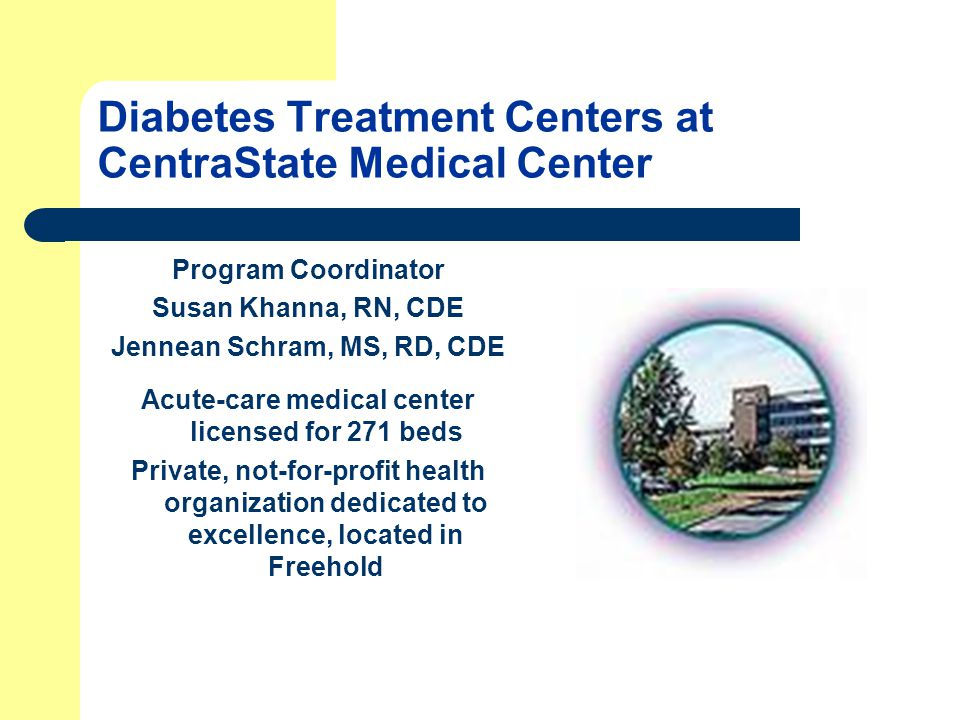 Diabetes Treatment Centers at CentraState Medical Center