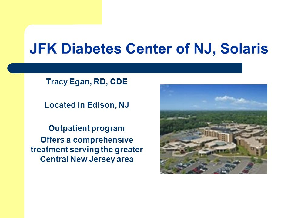 JFK Diabetes Center of NJ, Solaris