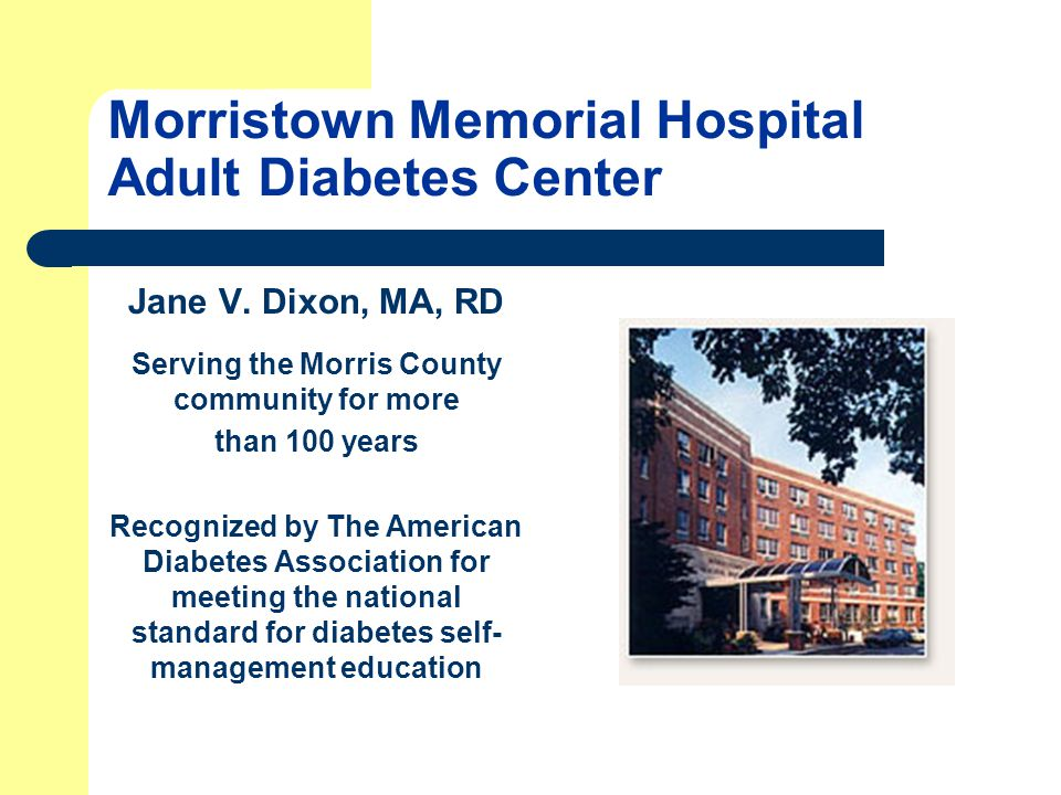 Morristown Memorial Hospital Adult Diabetes Center