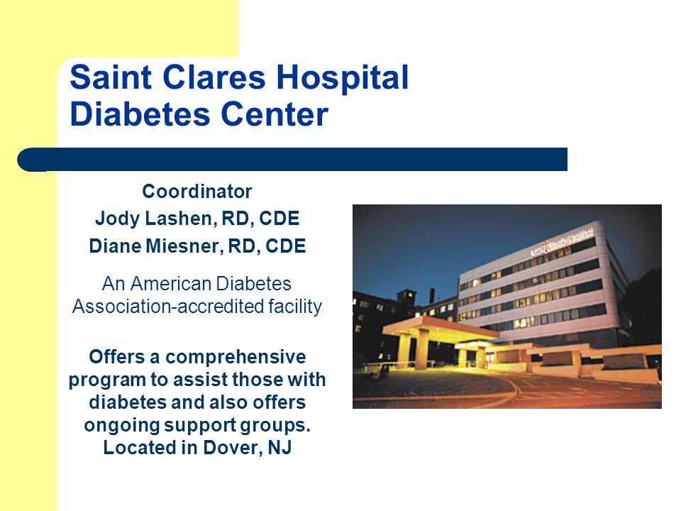 Saint Clares Hospital Diabetes Center