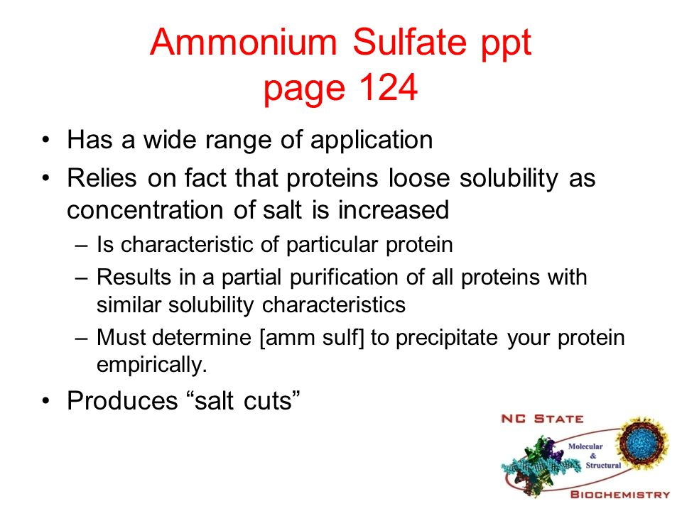 Ammonium Sulfate ppt page 124