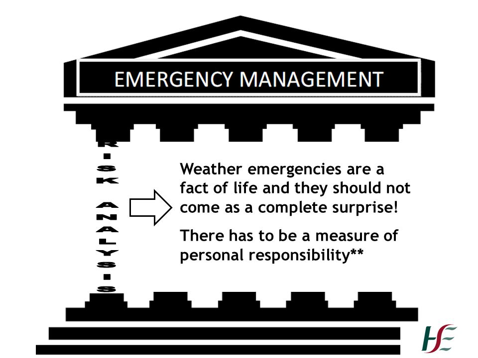 There has to be a measure of personal responsibility**