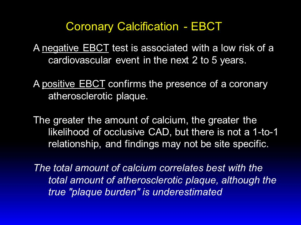 Coronary Calcification - EBCT