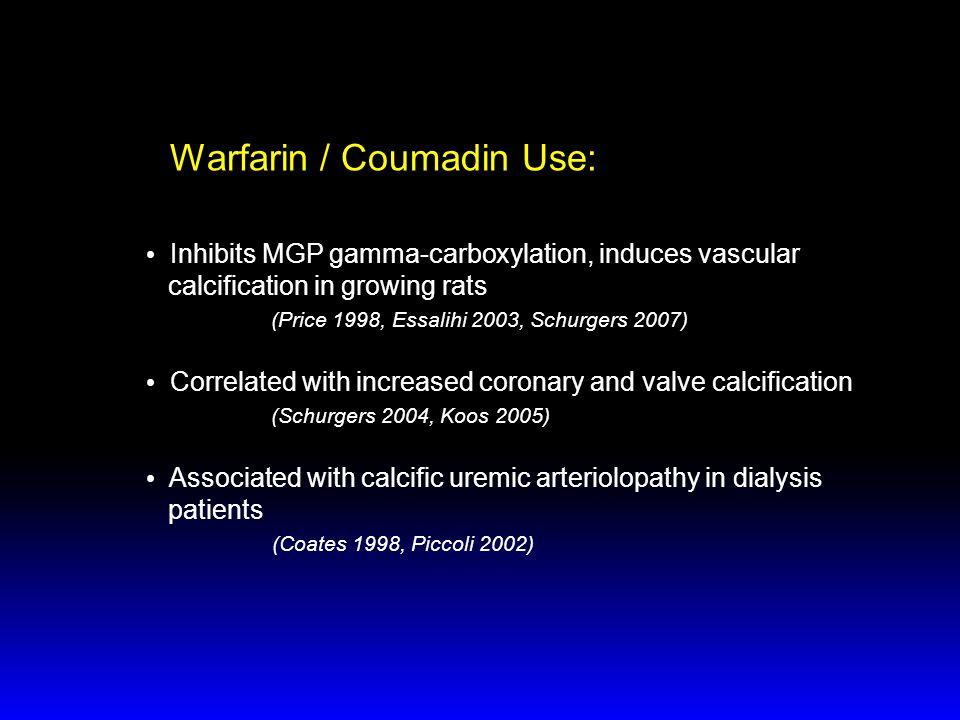 Warfarin / Coumadin Use: