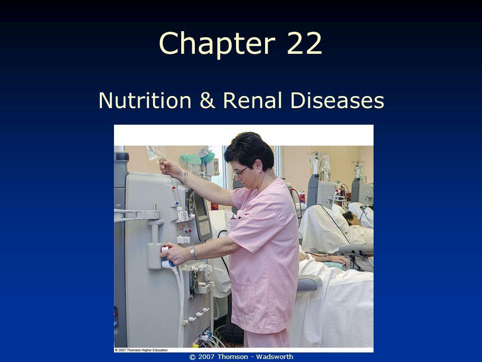 Nutrition & Renal Diseases