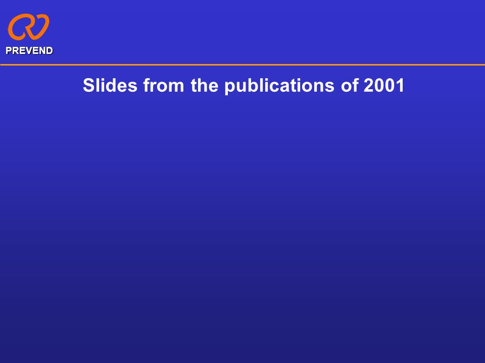 Slides from the publications of 2001
