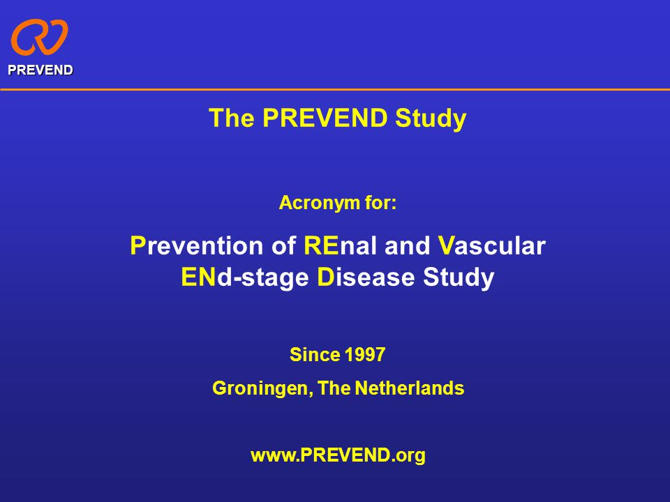 Prevention of REnal and Vascular ENd-stage Disease Study
