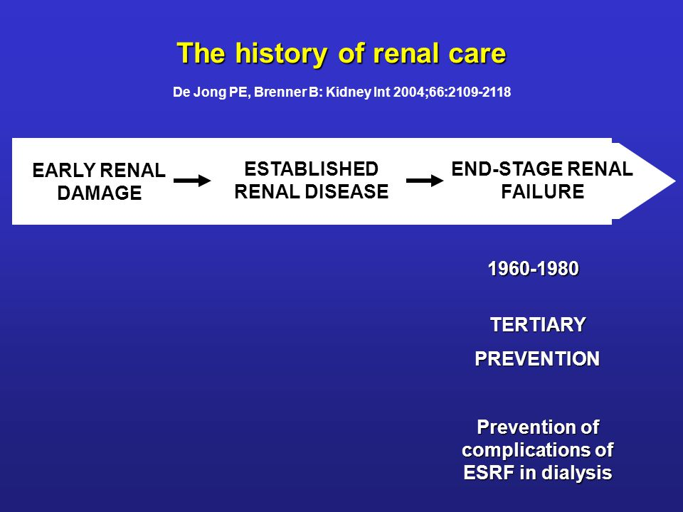 The history of renal care