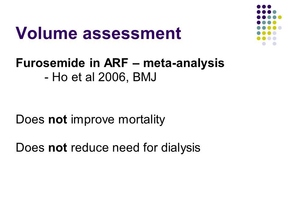 Volume assessment Furosemide in ARF – meta-analysis
