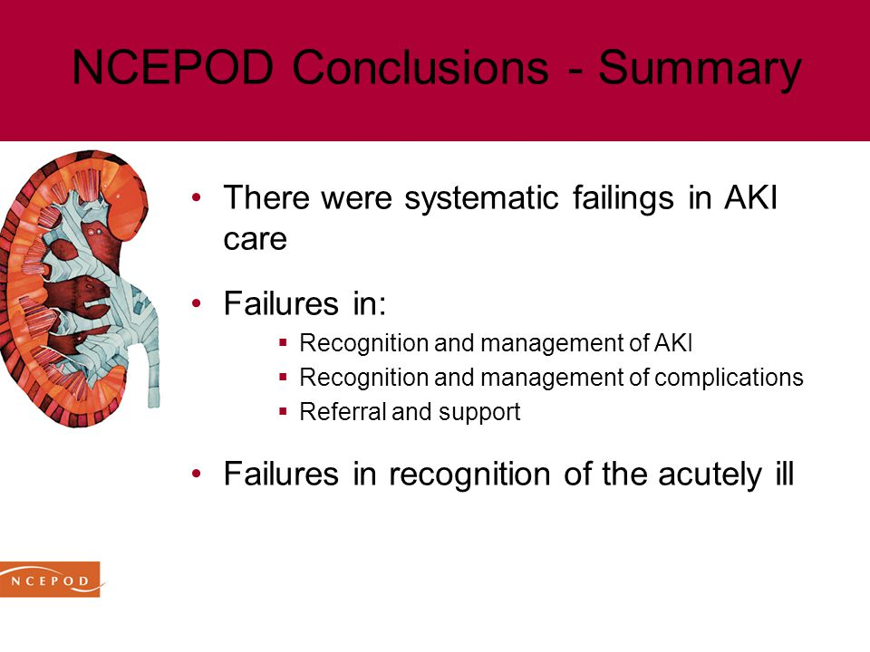 NCEPOD Conclusions - Summary