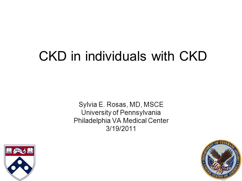 CKD in individuals with CKD