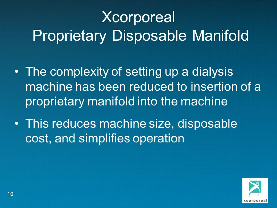 Xcorporeal Proprietary Disposable Manifold