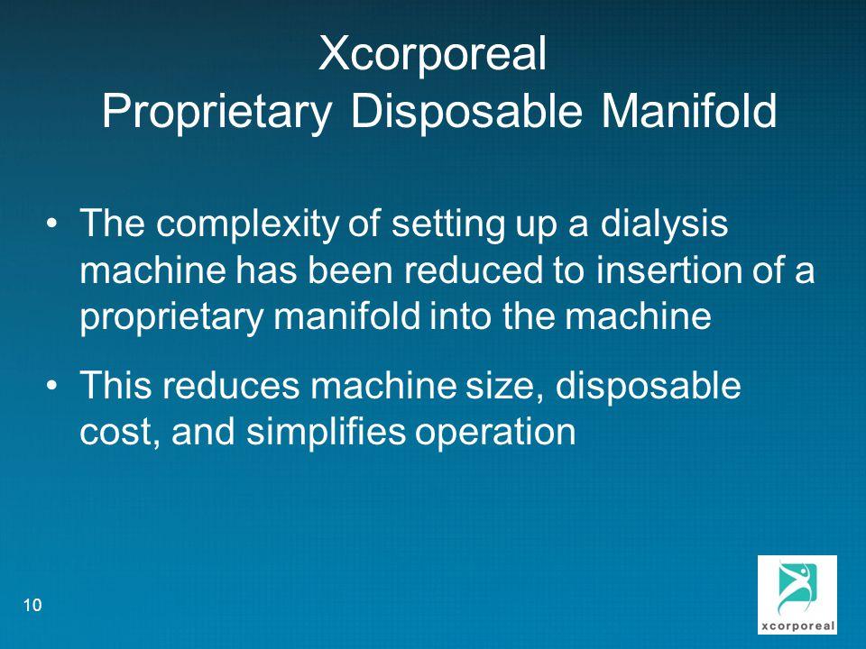 Xcorporeal Proprietary Disposable Manifold