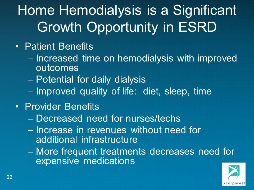 Home Hemodialysis is a Significant Growth Opportunity in ESRD