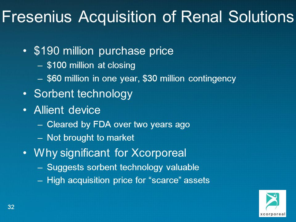 Fresenius Acquisition of Renal Solutions