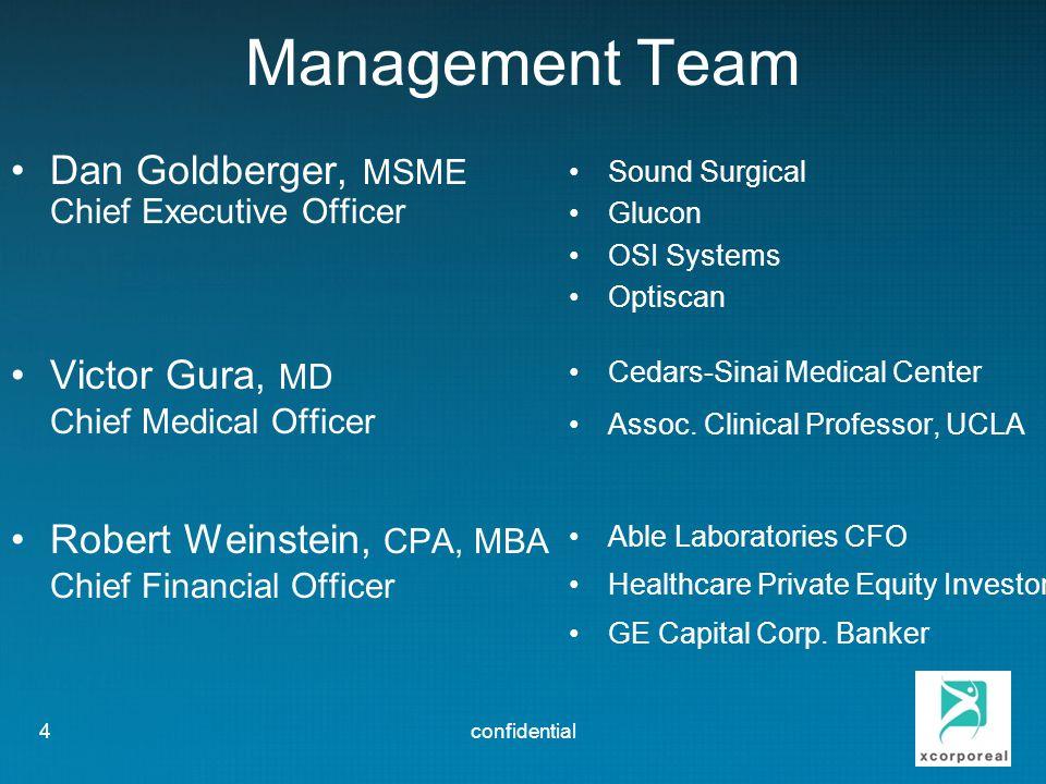 Management Team Dan Goldberger, MSME Victor Gura, MD