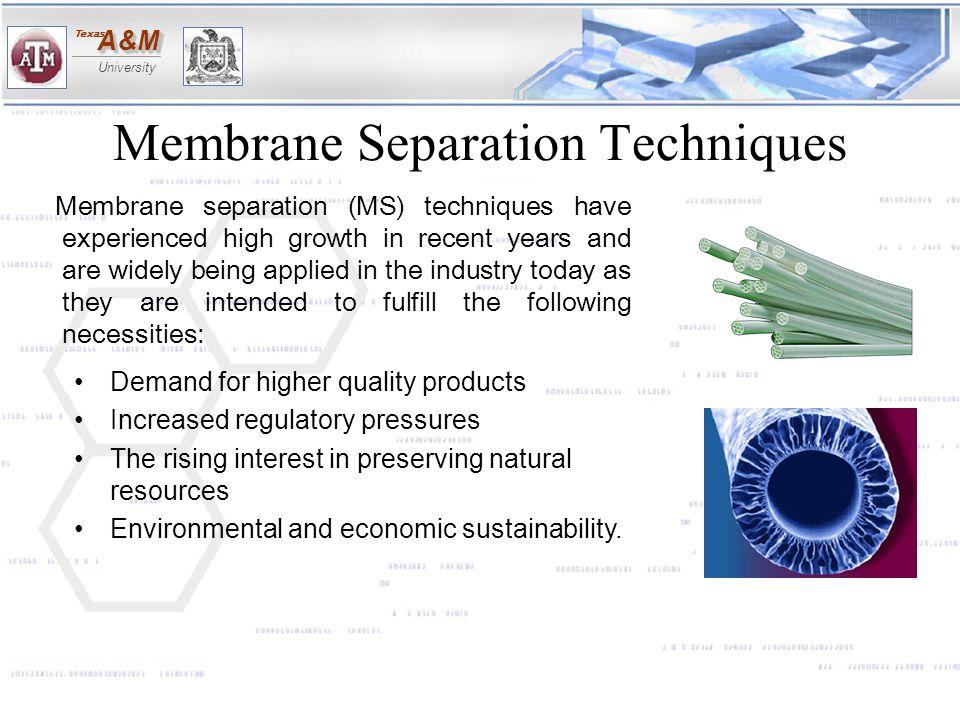 Membrane Separation Techniques