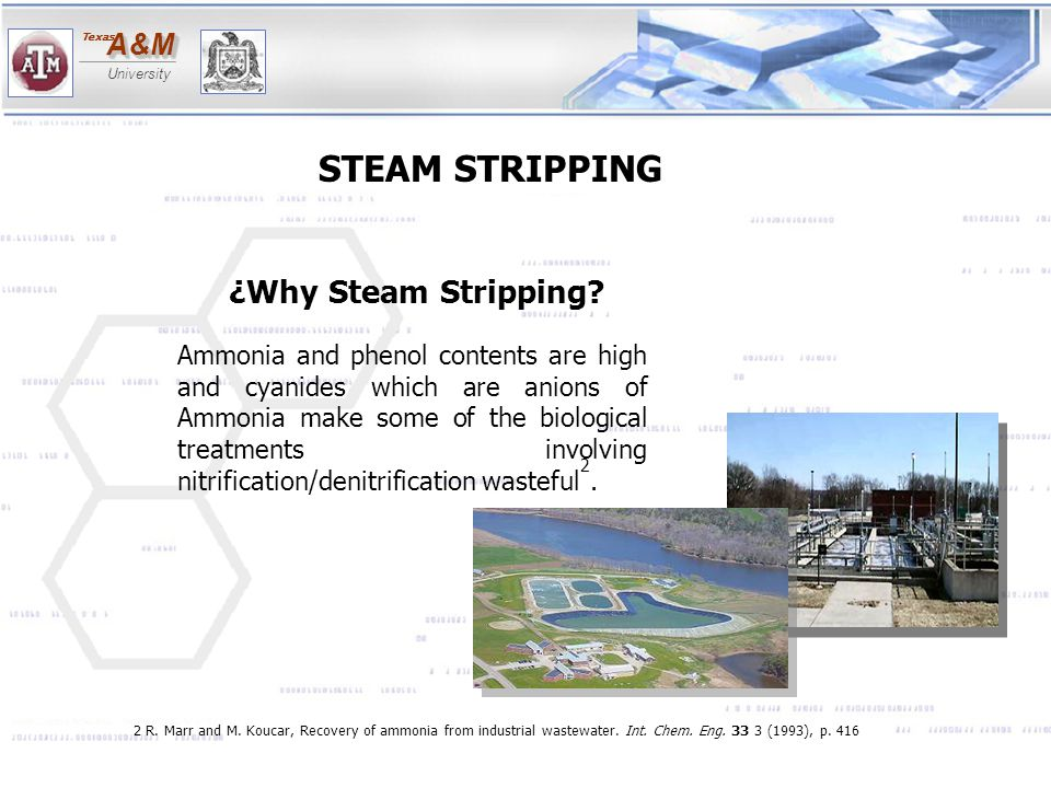 STEAM STRIPPING ¿Why Steam Stripping