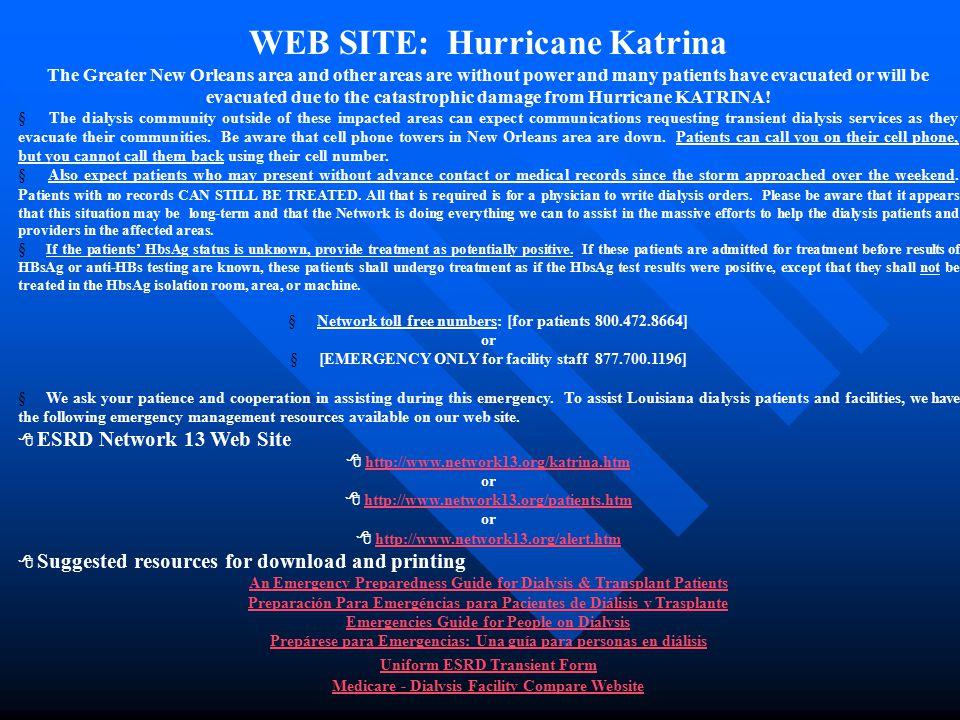 WEB SITE: Hurricane Katrina