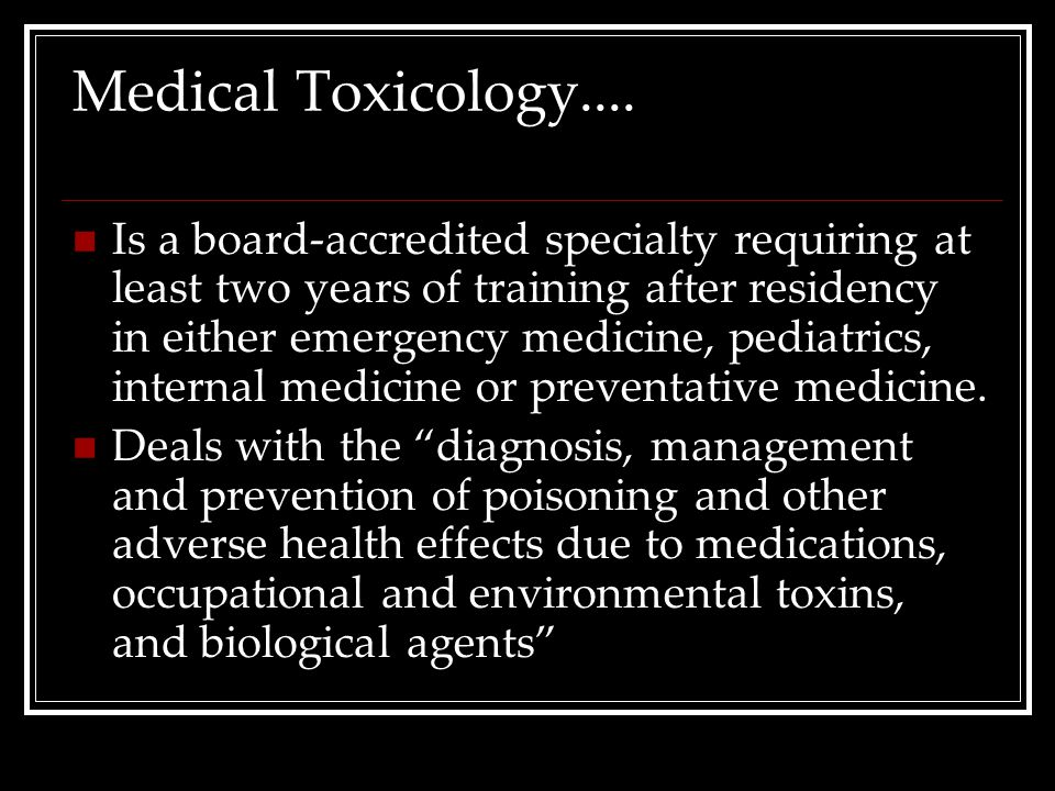 Medical Toxicology....