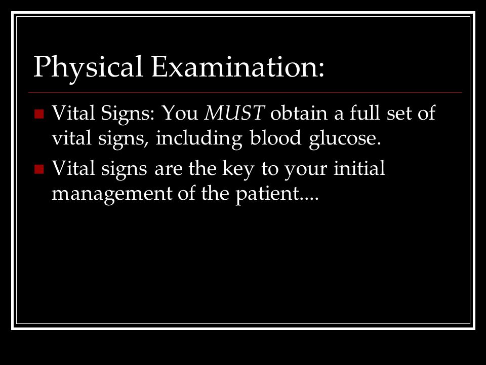 Physical Examination: