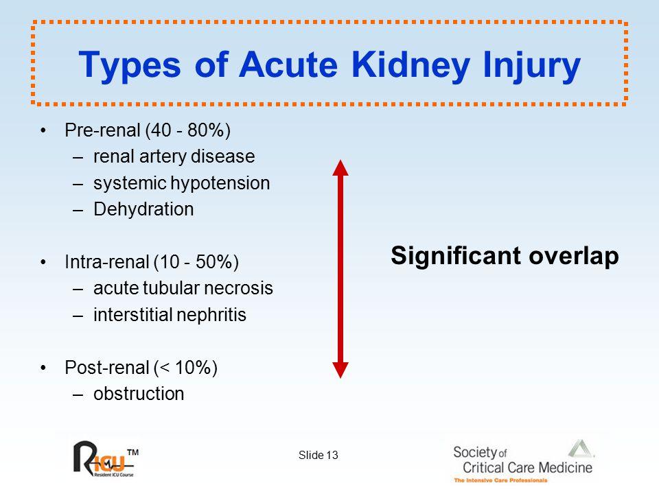 Types of Acute Kidney Injury