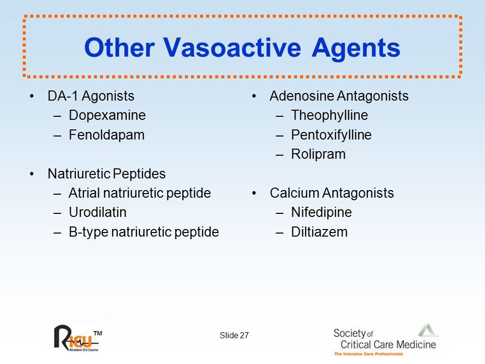 Other Vasoactive Agents