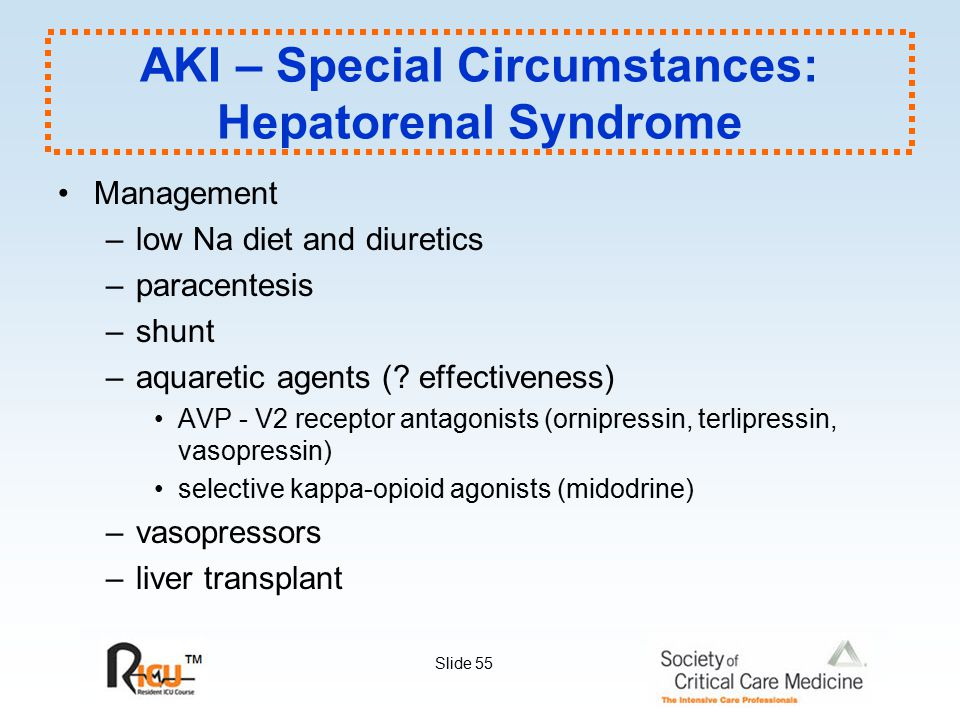 AKI – Special Circumstances: Hepatorenal Syndrome