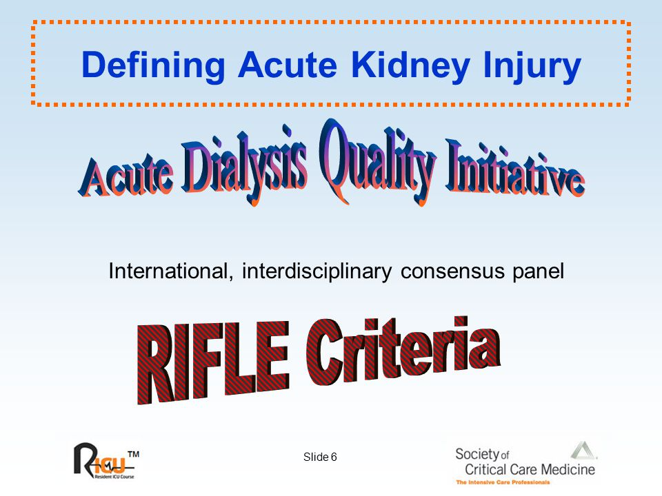Defining Acute Kidney Injury