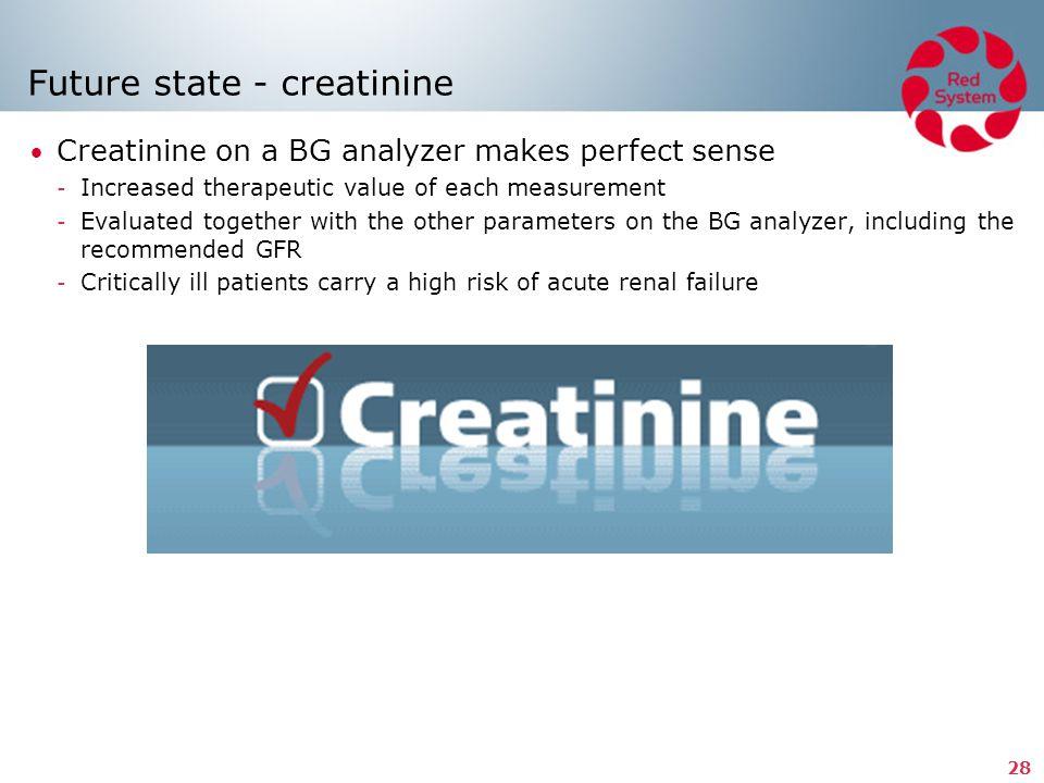 Future state - creatinine