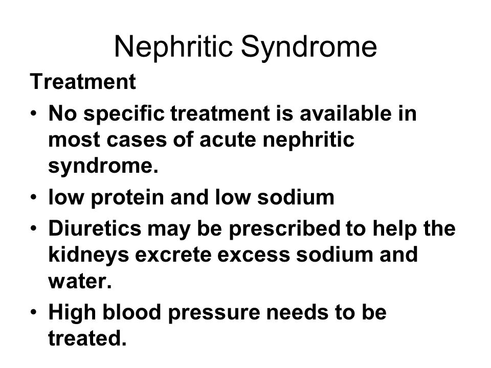 Nephritic Syndrome Treatment