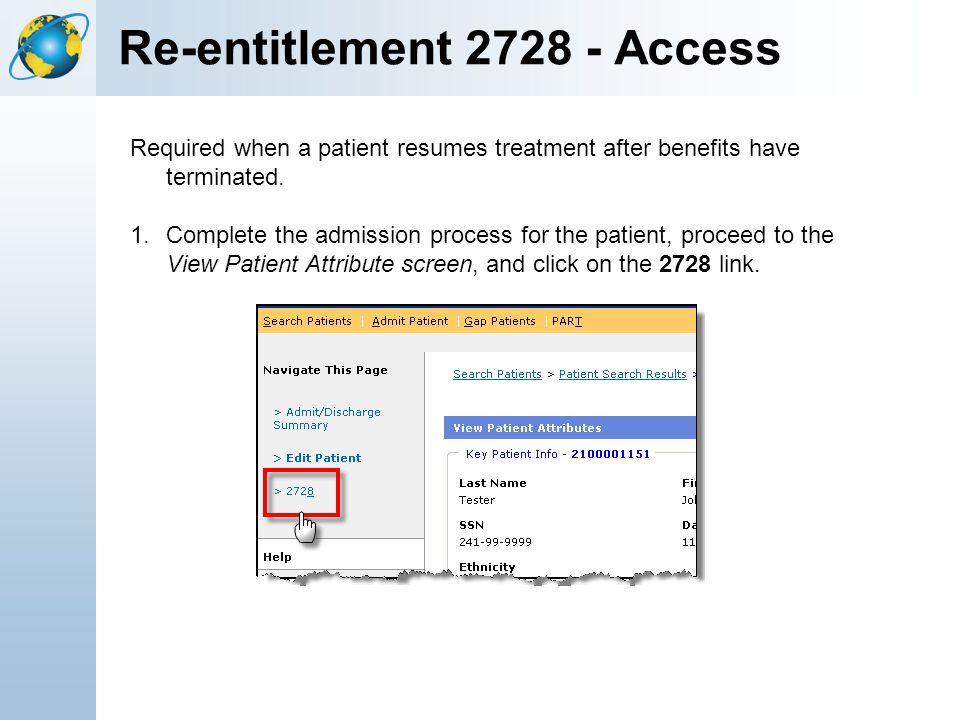 Re-entitlement 2728 - Access