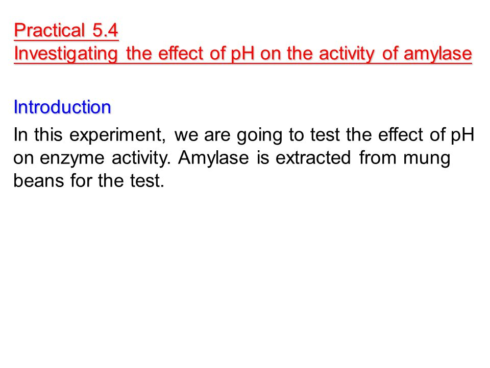 an experiment to test the effects of ph on enzymes I am currently studying biology and would like to know why enzymes work best in a particular narrow range of ph  why does ph have an effect on enzymes.