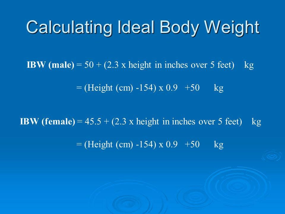 Calculating Ideal Body Weight