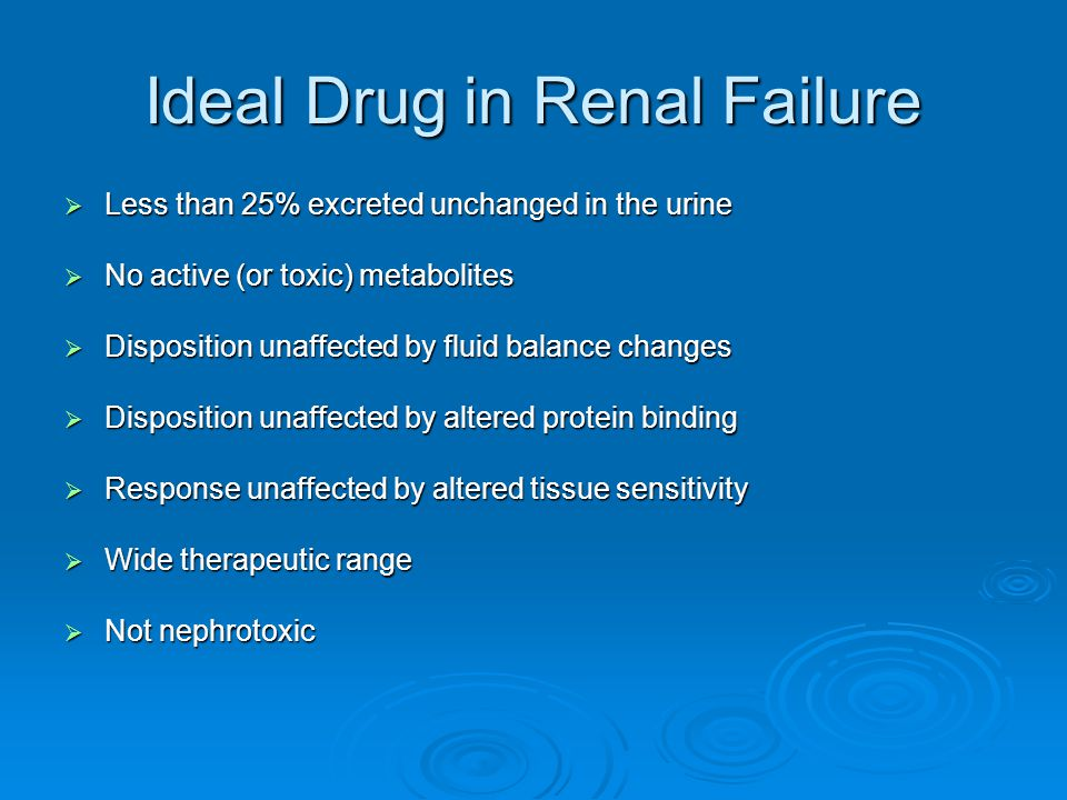 Ideal Drug in Renal Failure