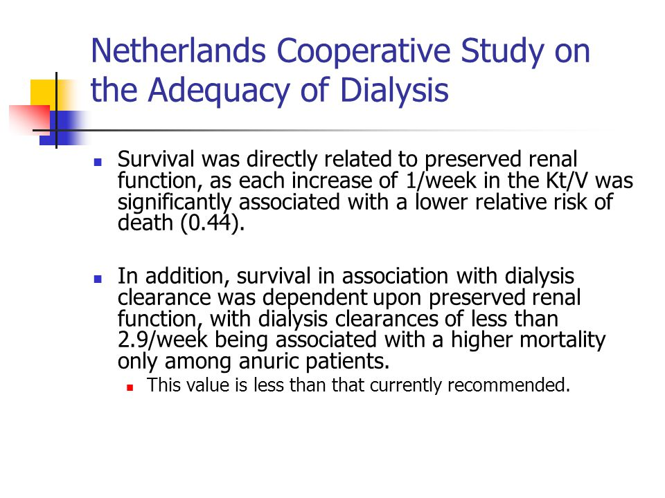 Netherlands Cooperative Study on the Adequacy of Dialysis