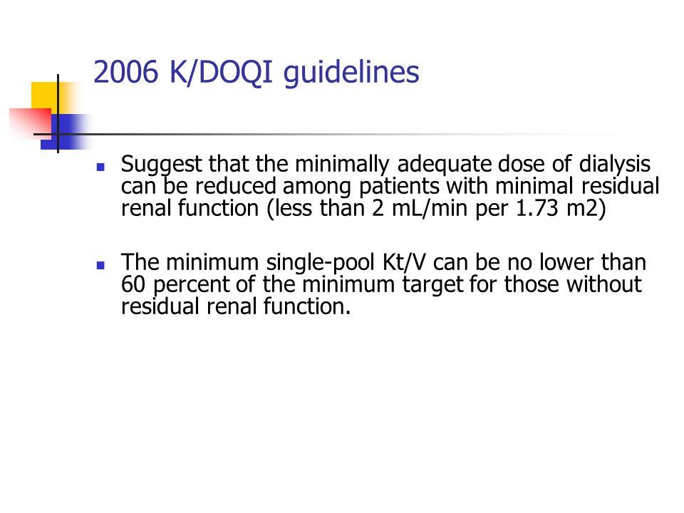 2006 K/DOQI guidelines