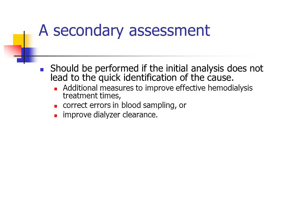 A secondary assessment