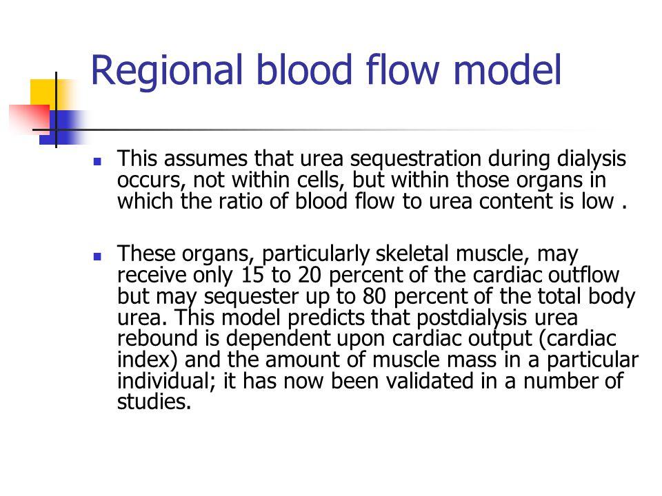 Regional blood flow model