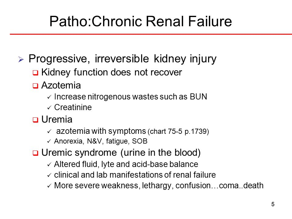 Patho:Chronic Renal Failure