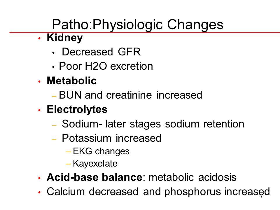 Patho:Physiologic Changes