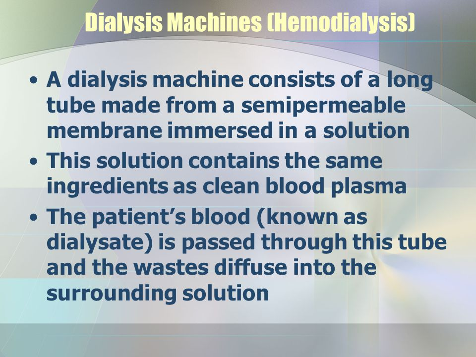 Dialysis Machines (Hemodialysis)