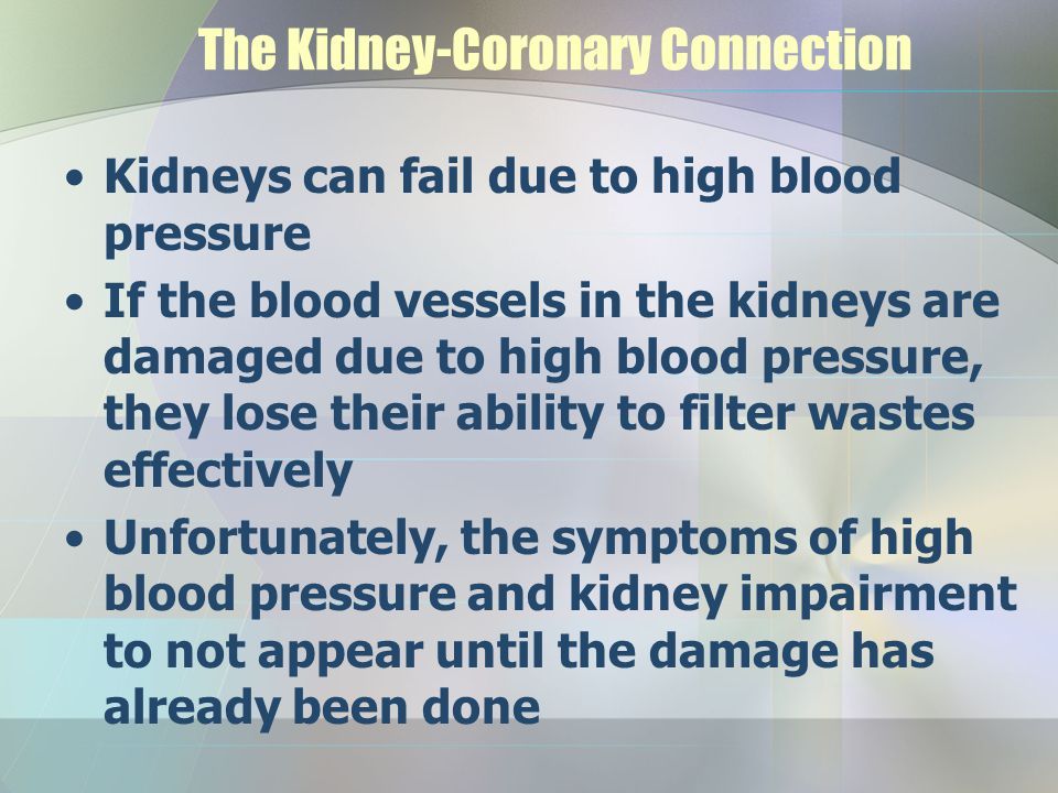 The Kidney-Coronary Connection