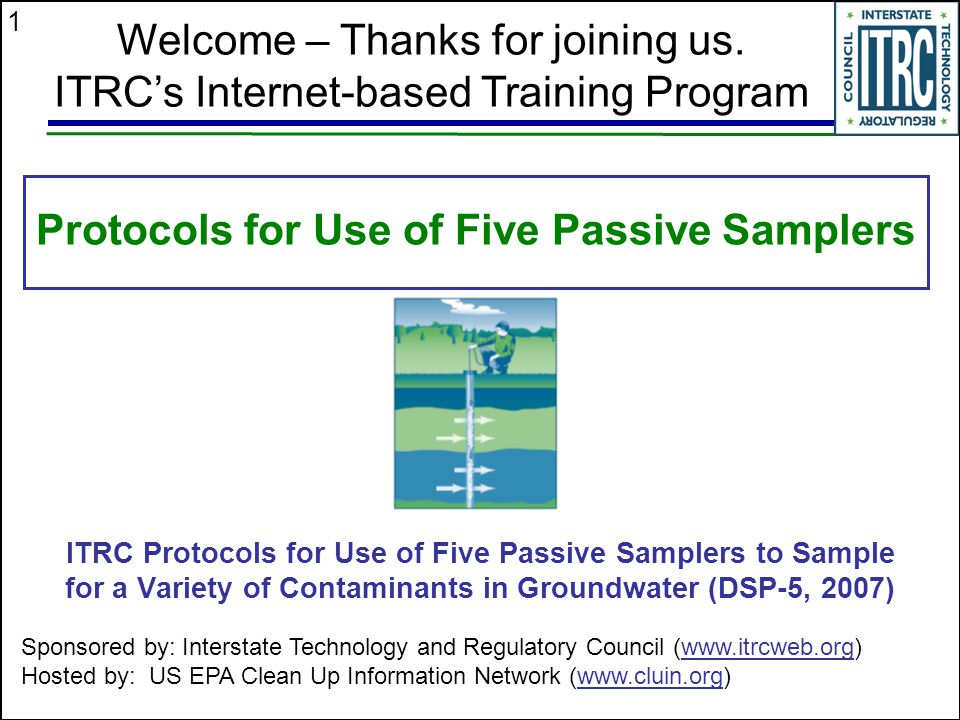 Protocols for Use of Five Passive Samplers