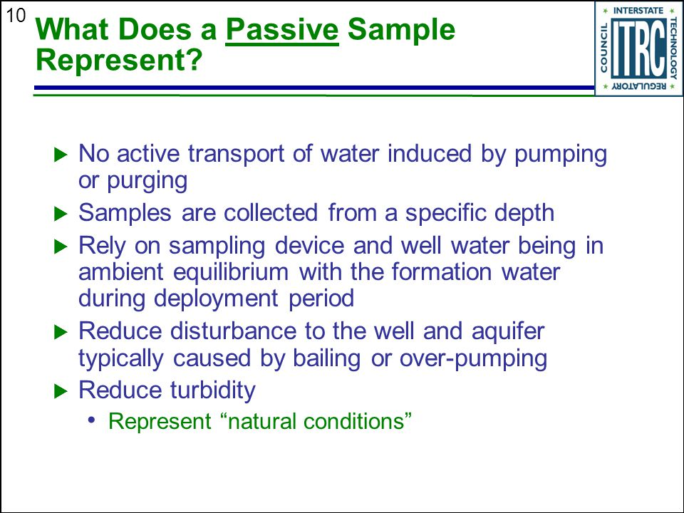 What Does a Passive Sample Represent