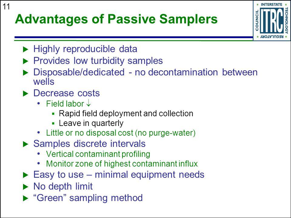 Advantages of Passive Samplers