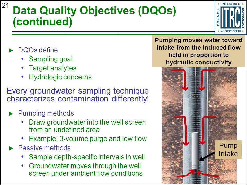Data Quality Objectives (DQOs) (continued)
