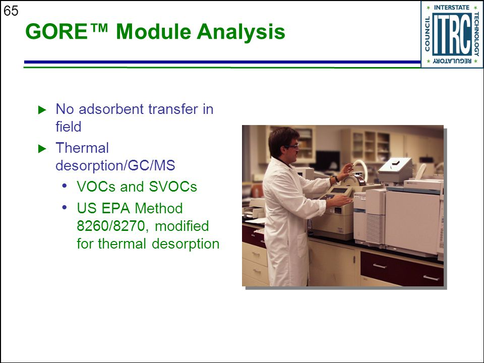 GORE™ Module Analysis No adsorbent transfer in field