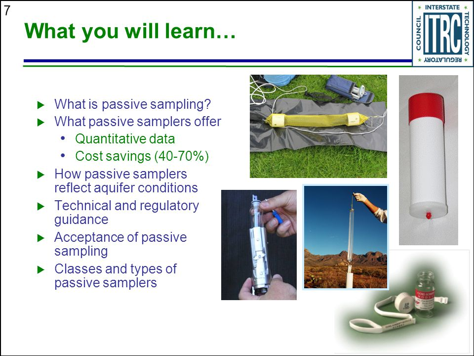 What you will learn… What is passive sampling